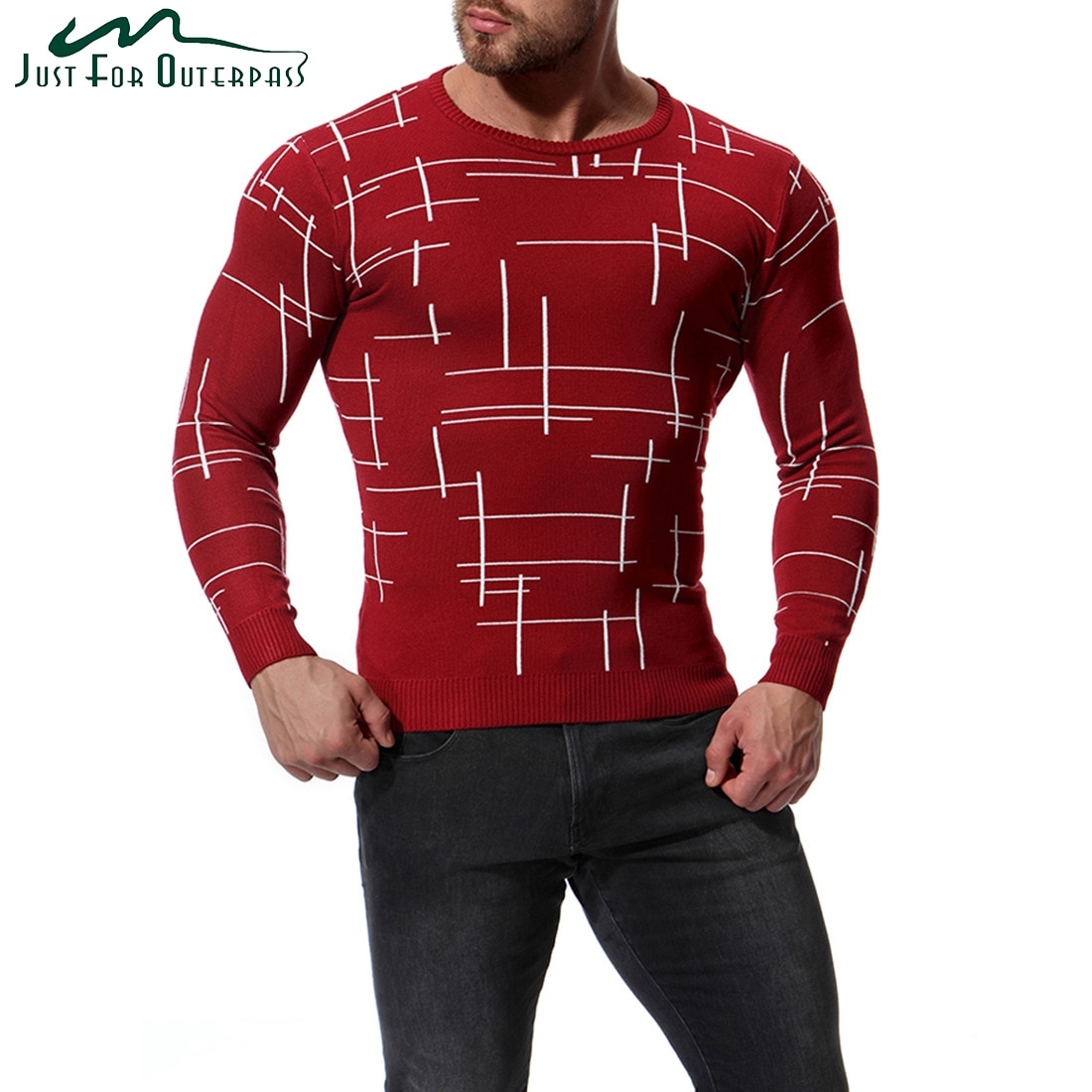 2018 New Men's Autumn Winter Pullovers Sweater O-Neck Long Sleeve Knitted Undershirt Male Fashion Slim Warm Coat High Quality
