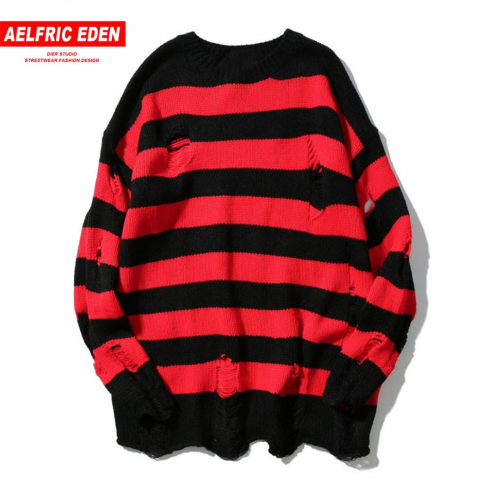 Aelfric Eden Mens Sweaters 2017 New Men Fashion Winter Coat Striped Pullover Men Streetwear Hip Hop Knitting Boys Sweater PA109