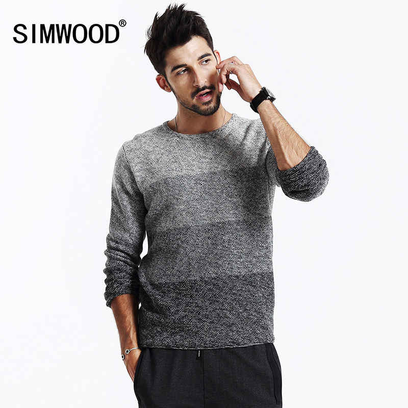 SIMWOOD 2018 new autumn winter men sweater cotton pullovers long sleeve knitted sweater MY2013