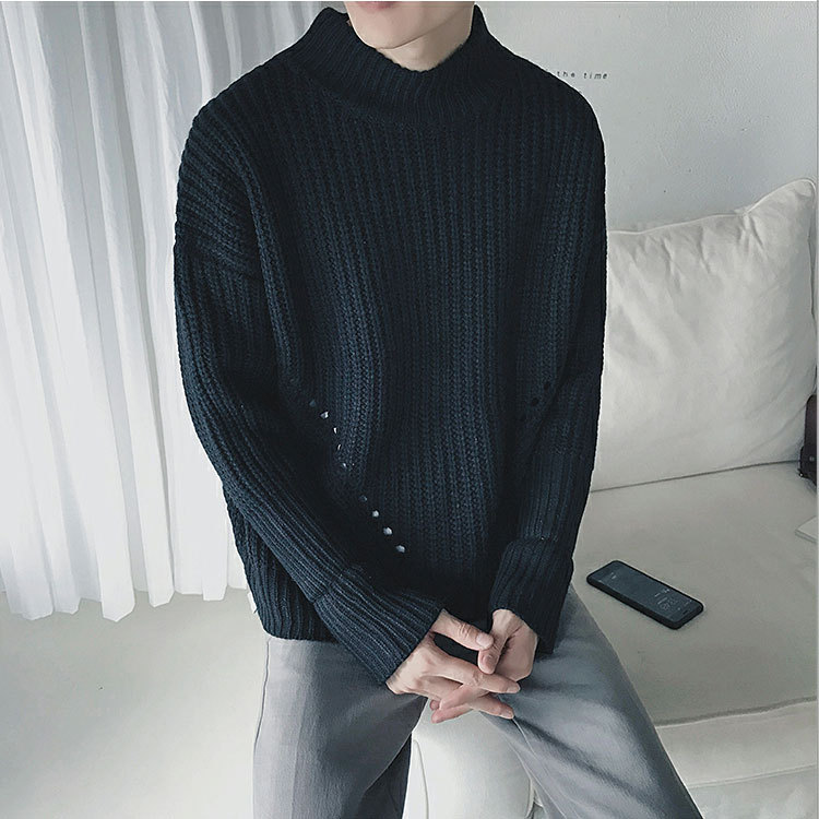 Sweaters Men New Fashion Casual O-Neck Slim Cotton Knit Quality Mens Sweaters And Pullovers Men Brand Clothing