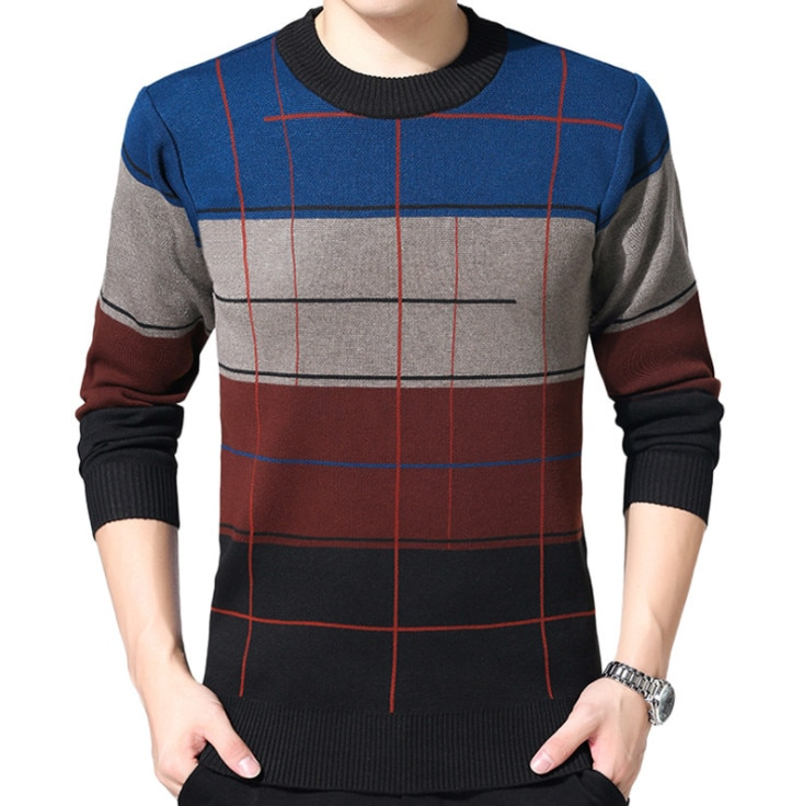 ZOEQO High Quality Casual Sweater Men men sweater winter round neck knitted sweaters slim Knitwear Sweaters pull homme