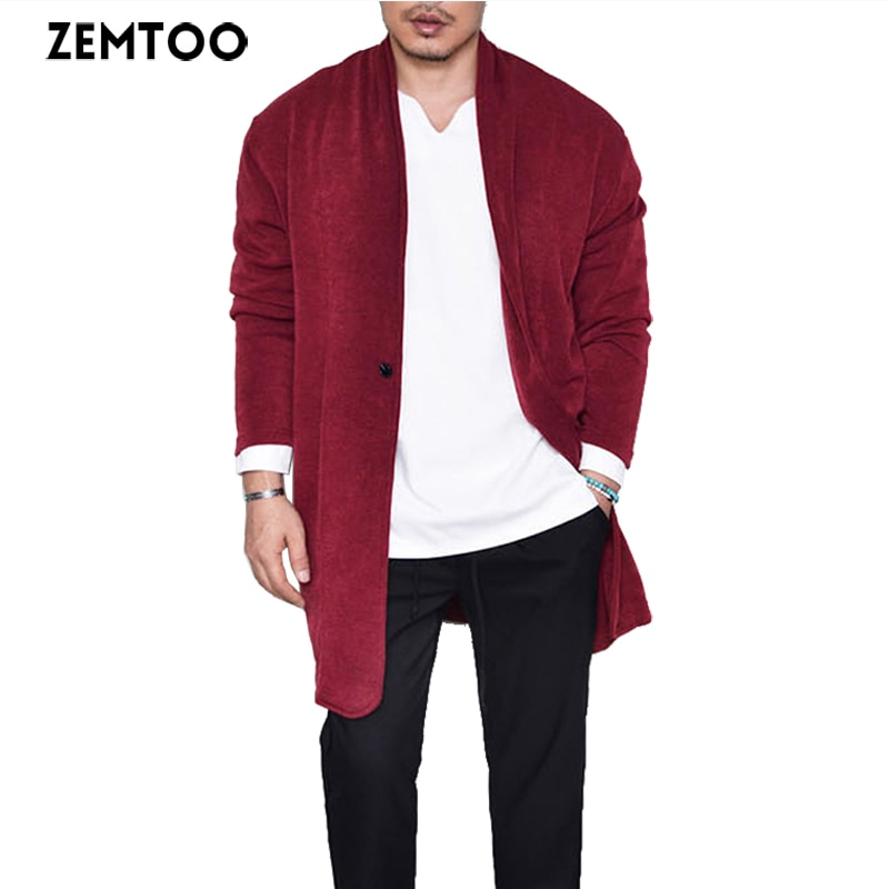 zemtoo Men Cardigan Sweater Cardigans Men Sweaters new 2018 Knitwear Cardigan Top Quality Brand Clothing Fashion Male Slim Coat