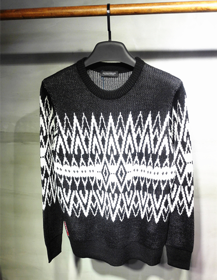2017 NEW men's white pattern sweater
