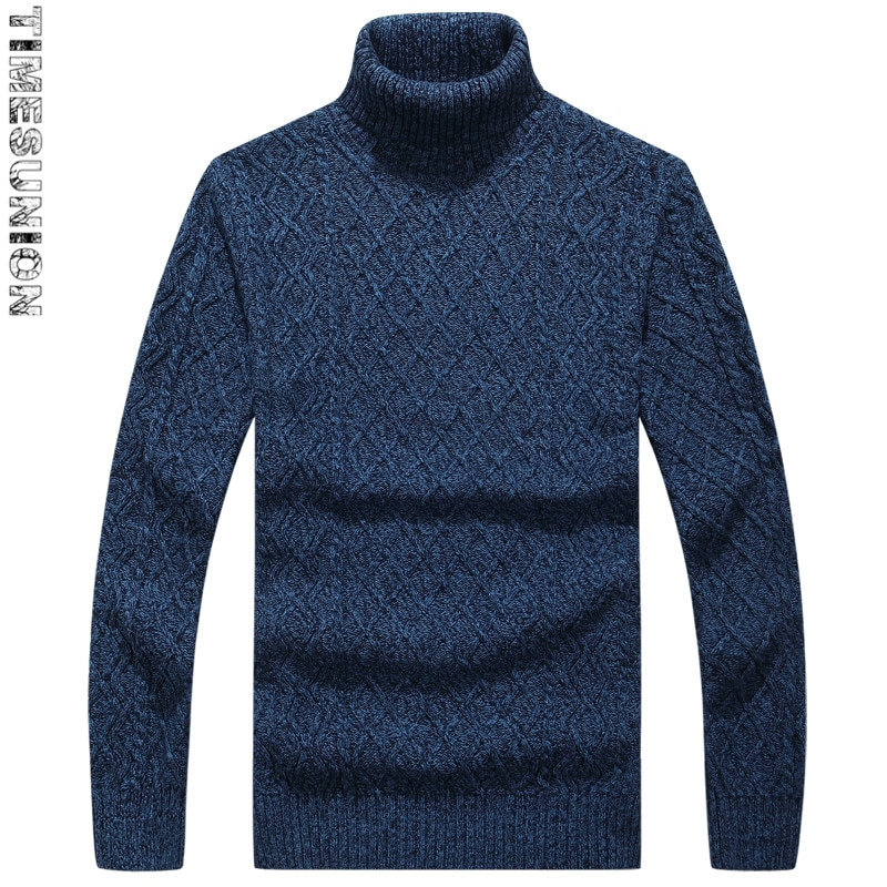 2018 Autumn and Winter New Style Sweaters Men 100% Cotton High-quality Sweaters Red Mens Turtleneck Pullover Outerwear Coats