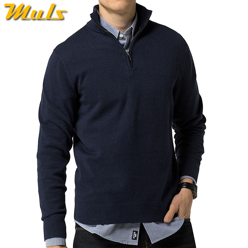 2018 Brand Shopping Week New Polo Mens Sweater Pullovers Winter Cotton Knitted Zipper Sweaters Male Jumper Autumn Spring Jersey