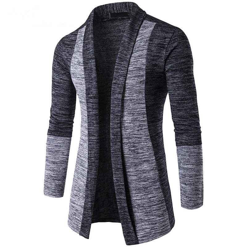 2018 New Fashion Autumn Classic Cuff Hit Colors Men's Sweaters High Quality Cardigan Casual Coat Men Sweater Knitwear