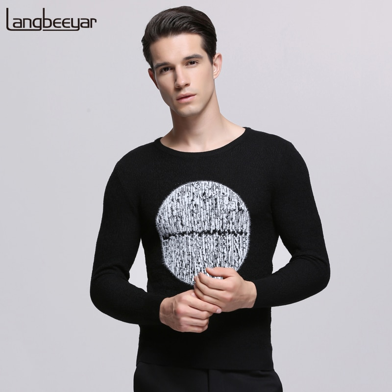 2018 New Fashion Brand Sweater For Mens Pullover Slim Fit Thick Jumpers Knit Woolen Autumn Korean Style Casual Mens Clothes