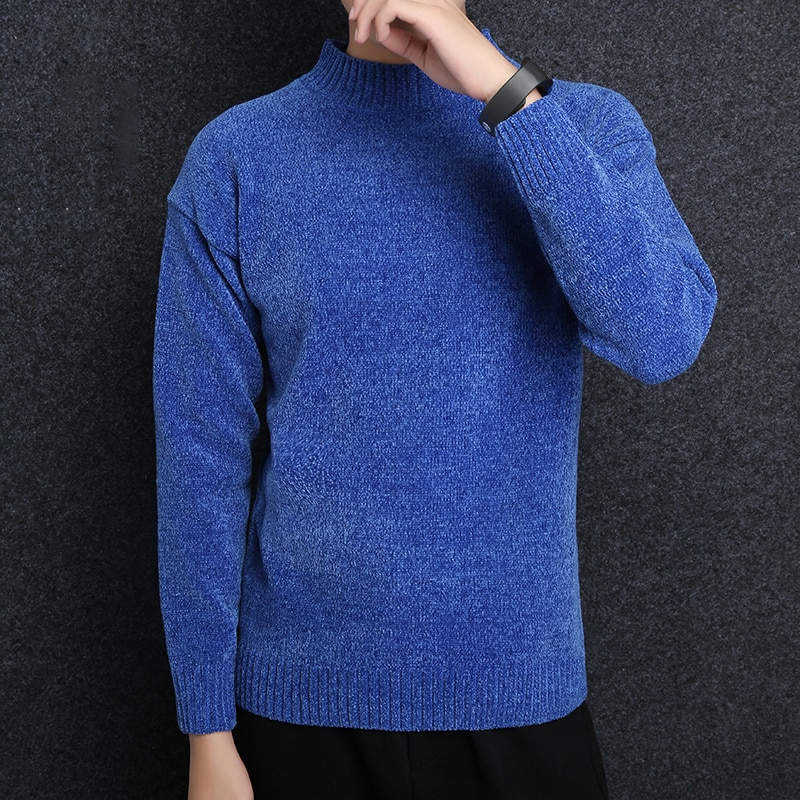 2018 New Fashion Brand Sweaters Mens Pullover Turtleneck Slim Fit Jumpers Knitting Warm Winter Korean Style Casual Clothing Men