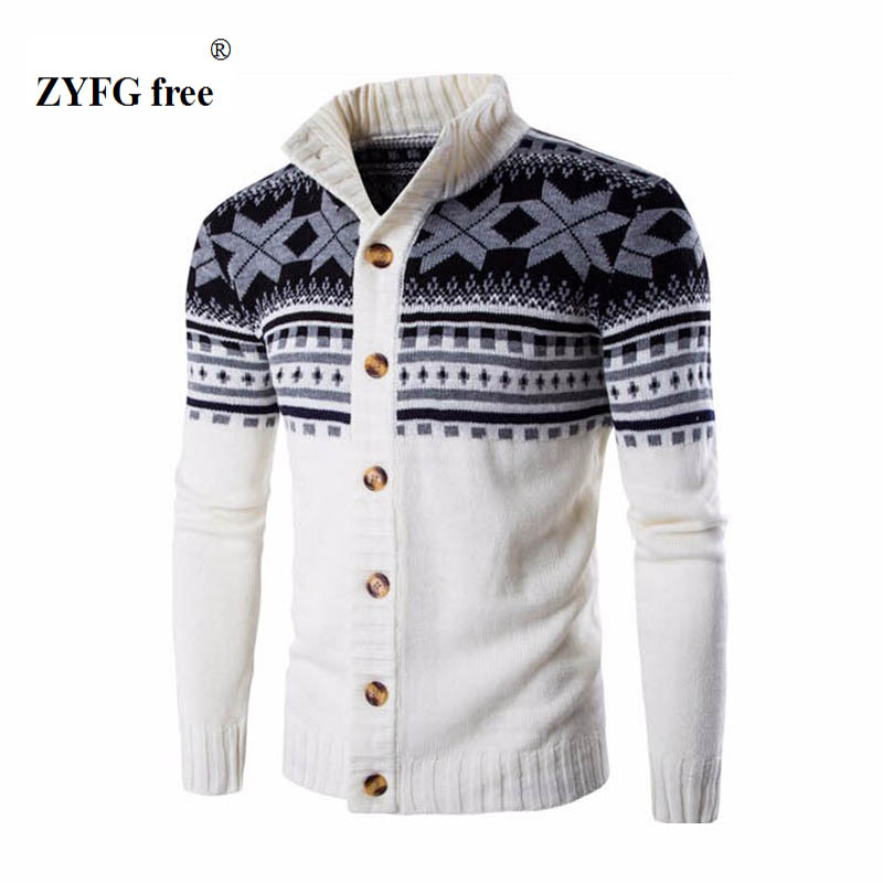 2018 New style men's casual sweater autumn fashion brand stand collar striped Slim knit men's sweater and national wind pullover
