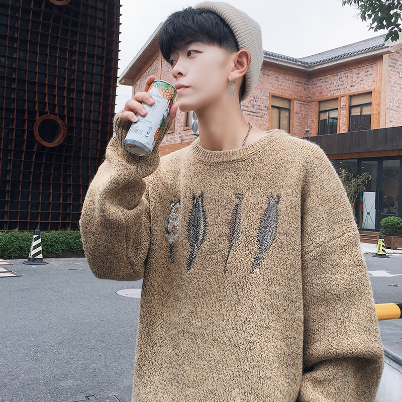 833 Autumn And Winter The Wind In Hong Kong Neck Sleeve Sweater Leisure Time Long Sleeve Will Code Easy That 's P68 - Control
