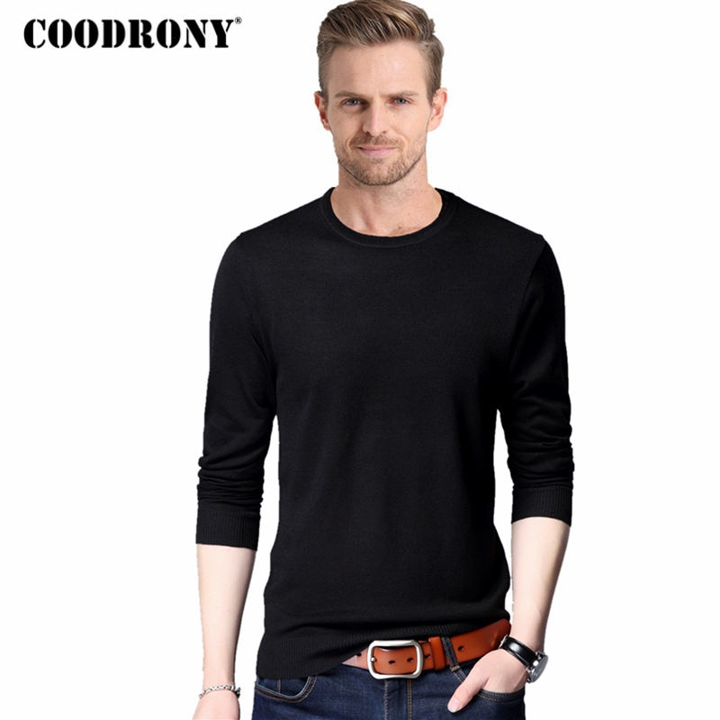 COODRONY Classic Casual Long Sleeve O-Neck Sweaters Spring Autumn Pullover Men Woolen Sweater Men Knitted Cotton Pull Homme 8109