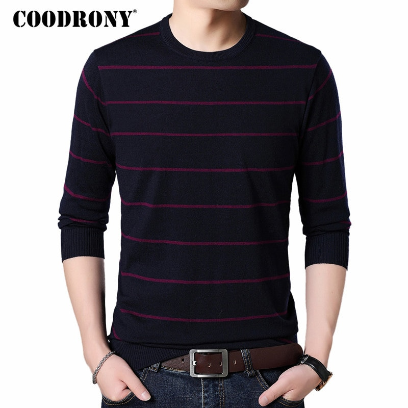 COODRONY Mens Sweaters 2018 Autumn Winter New Arrival Cashmere Wool Sweater Men Soft Warm Pullover Men Casual O-Neck Jumper 8224