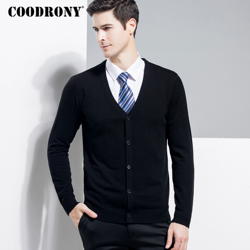 COODRONY Merino Wool Sweater Men Classic Casual V-Neck Cardigan Men Clothes 2018 Autumn Winter Cashmere Mens Sweaters Coats 8331