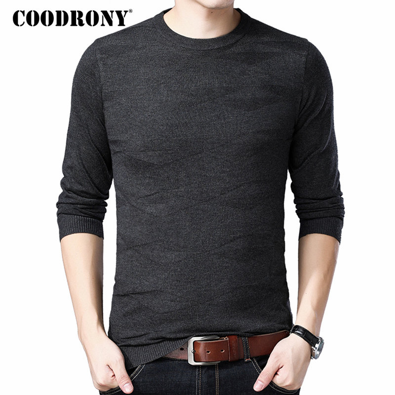 COODRONY Mnes Sweaters 2018 Autumn Winter New Arrival Cashmere Wool Sweater Pullover Men Slim Fit Casual O-Neck Mens Jumper 8240