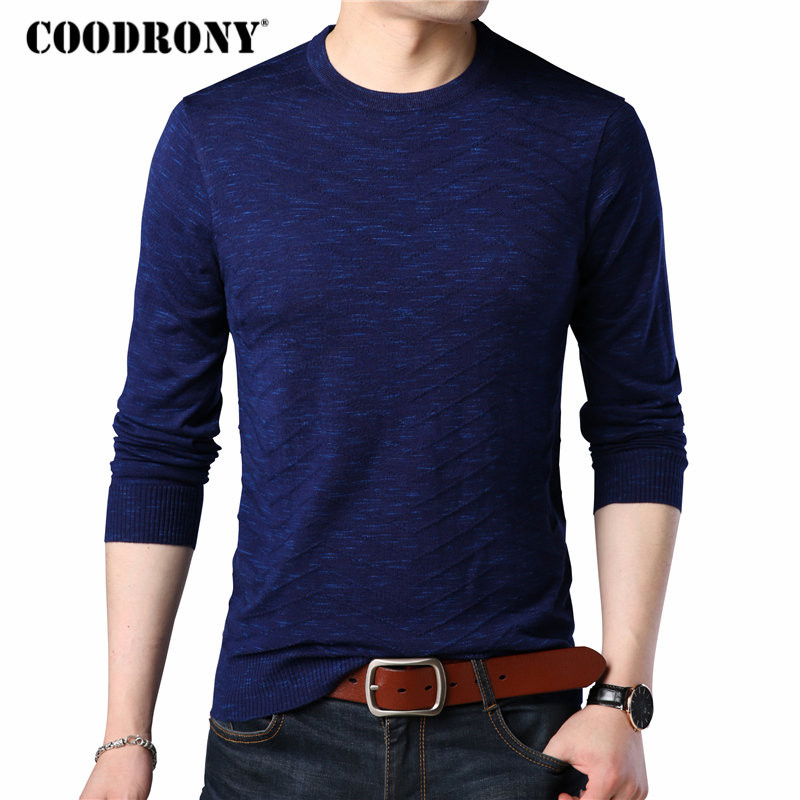 COODRONY Sweater Men Brand Clothing 2018 Autumn Winter Mens Sweaters Casual O-neck Pullover Men Plus Size Shirts Pull Homme 8140