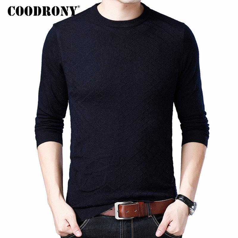 COODRONY Sweater Men Clothes 2018 Autumn Winter Soft Warm Pullover Men Casual O-Neck Pull Homme Cashmere Wool Mens Sweaters 8241