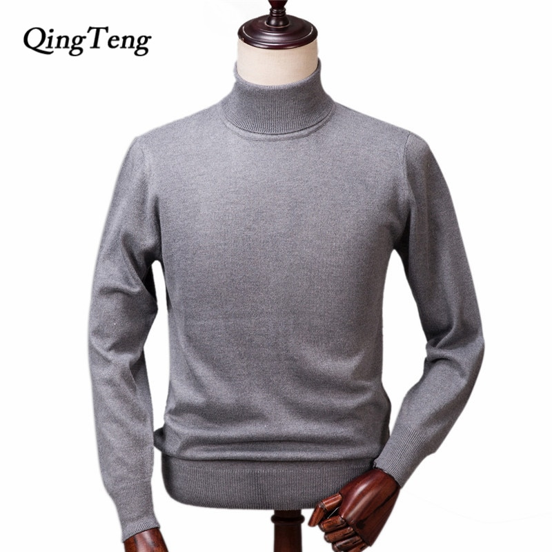 Cashmere Sweater Men Winter Knitted Turtleneck Male Cashmere Wool Pullover Men's Large Size Warm Jumper Wholesale Buy Xxxl