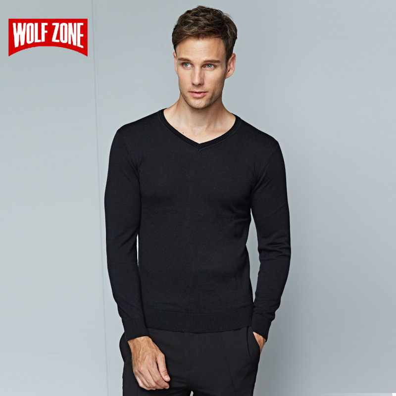 Hot 2017 Winter Sweater Men for Wool Brand Clothing Long Sleeve Fashion Pullovers Acrylic Mens Casual Knitting V-neck Sweaters
