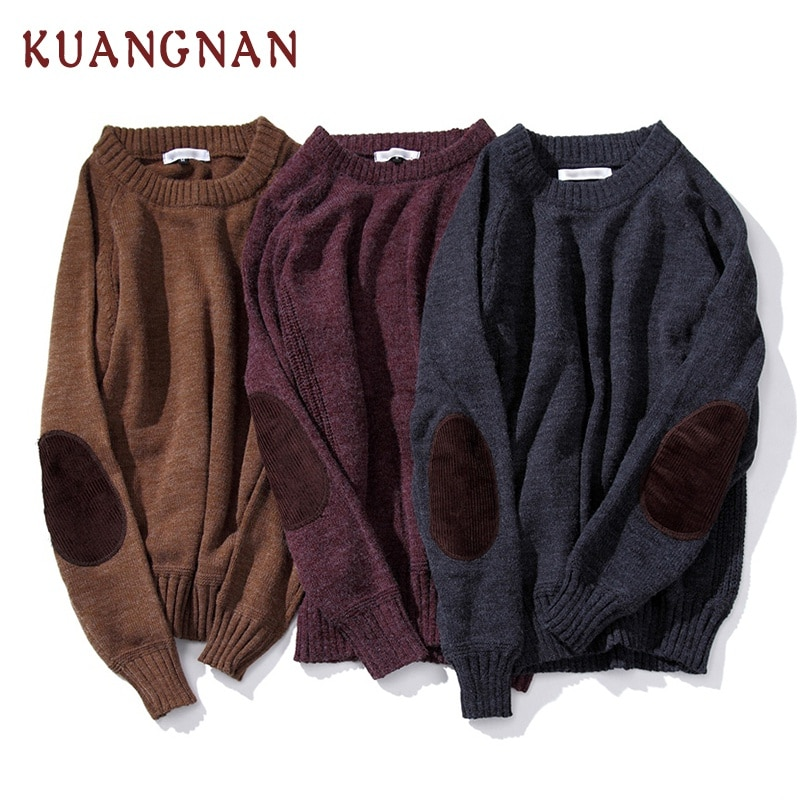 KUANGNAN Rabbit Knitted Sweater Men Pullover Man 5XL Christmas Sweater Men Winter Clothes Pullover Men Sweater Patchwork 2018