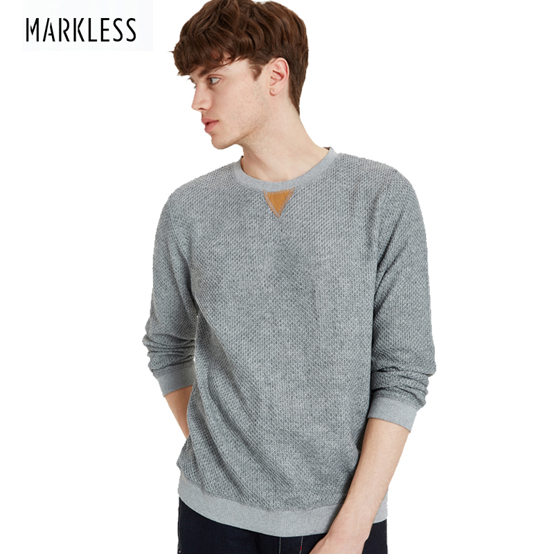 Markless 2018 Autumn Winter Sweaters Men O-Neck Long Sleeve Thick Warm Pullover Sweaters Fashion Christmas Gift for Men WYA7425