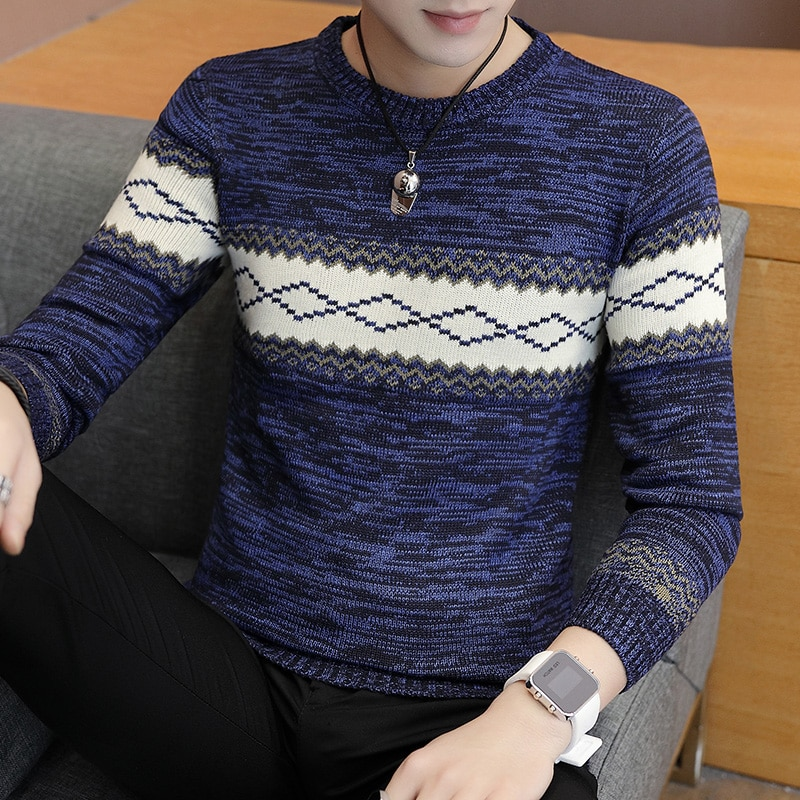 Men Sweater Teenage Boys 2018 New Arrival Autumn And Winter Student Male Knitted Pullover Sweater Korean Style Hot Selling M11