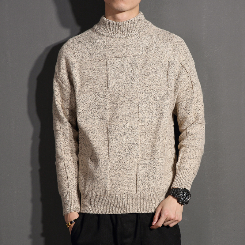 New Winter Thick Warm Cashmere Sweater Men Turtleneck Mens Sweaters Slim Fit Pullover Men Classic Knitwear Pull Homme 5XL