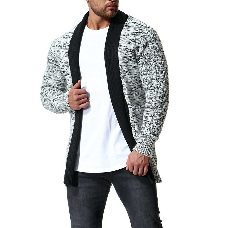 Sweater Cardigan Men 2018 Male Brand Casual Slim Sweaters Men Thickened Medium Long Knitted Wool Hedging Men'S Sweater