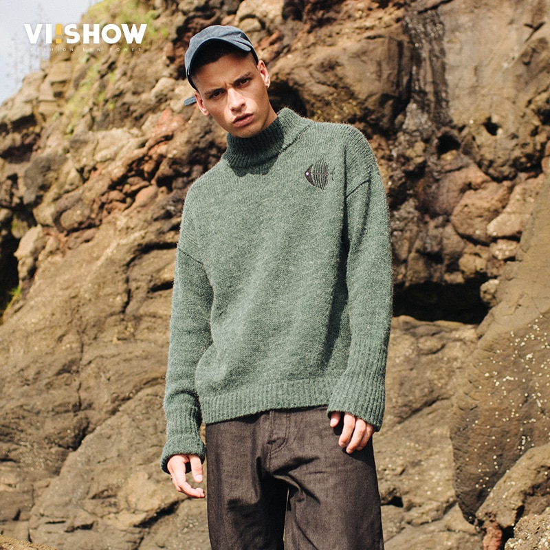 VIISHOW Animal Men Sweaters 2017 Knitwear Mens Knitwear Sweater Top Brand Clothing Fashion Cat Sweater Christmas Male pull homme