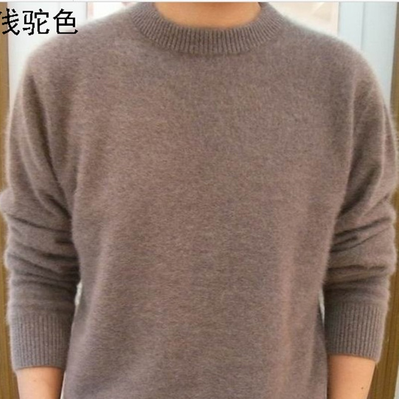 2017 NEW Sale Standard Solid Pullovers Full Sleeves O-Neck Mink Cashmere Auturm & Winter Men Formal Knitted Sweater