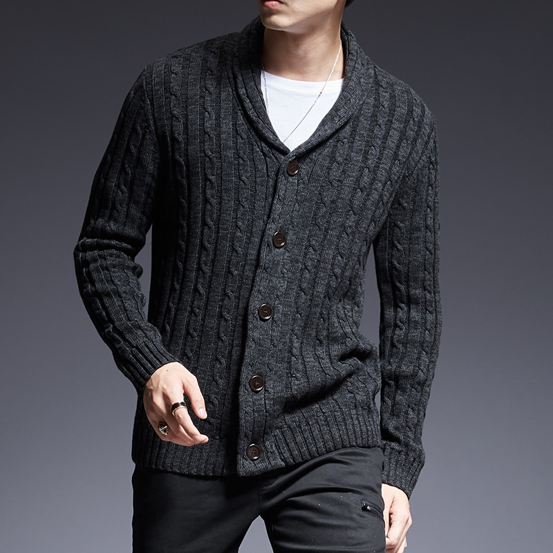 2018 New Fashion Brand Sweater Man Cardigan Thick Slim Fit Jumpers Knitwear High Quality Autumn Korean Style Casual Mens Clothes
