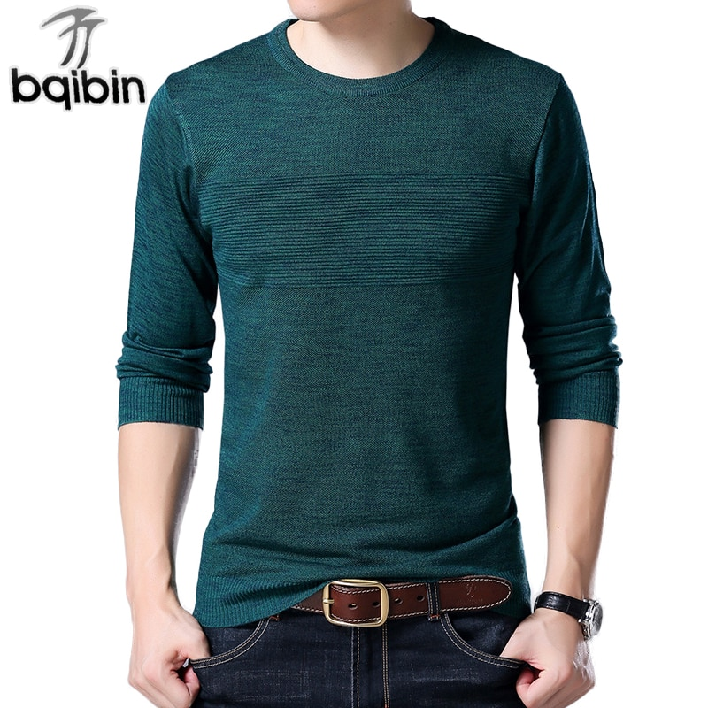 2018 New Sweater Men Cotton High-Quality Pullover O-Neck Brand Fashion Long Sleeves Knitted Sweaters