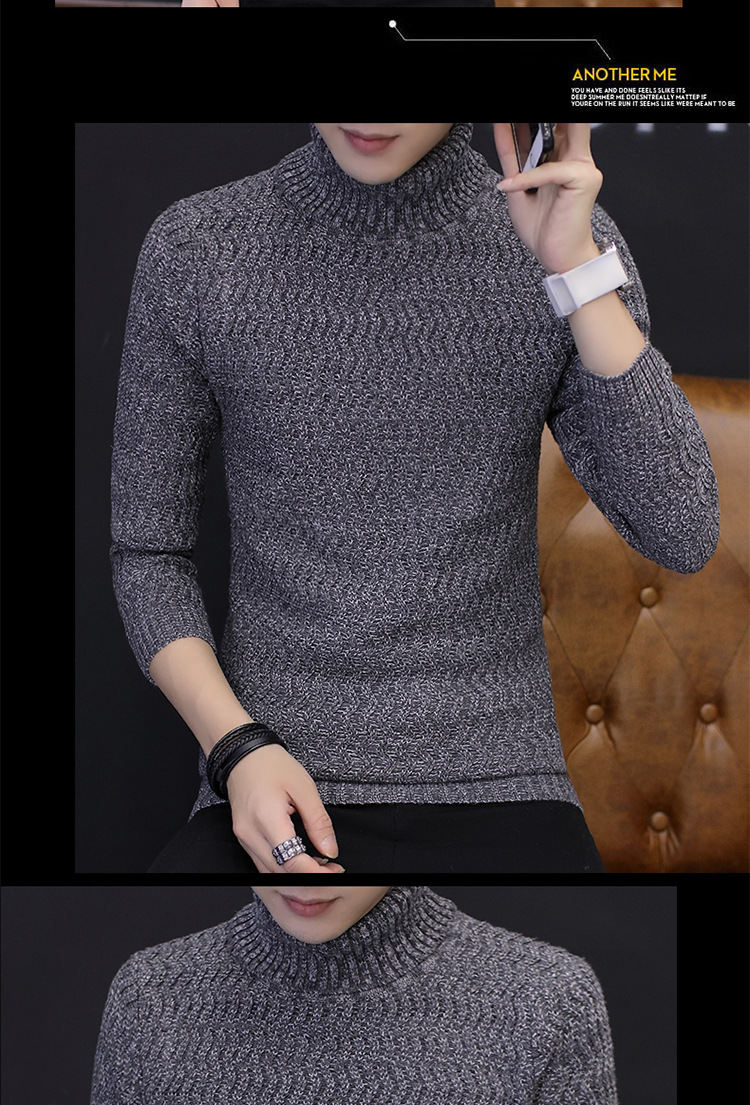 2018 autumn new sweater turtleneck sweater fashion street trend easy to match