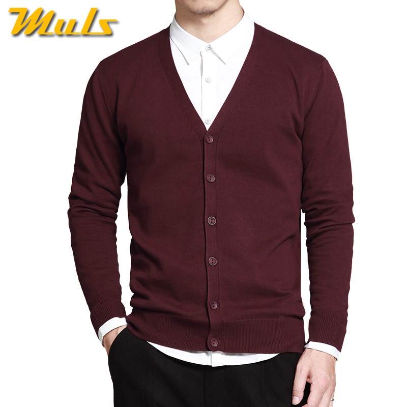 6Colors Men Cardigan Sweater Pure Cotton Knited Sweater Men Spring Autumn Winter Male Cardigans Brand Muls Fitted M L XL 2XL 3XL