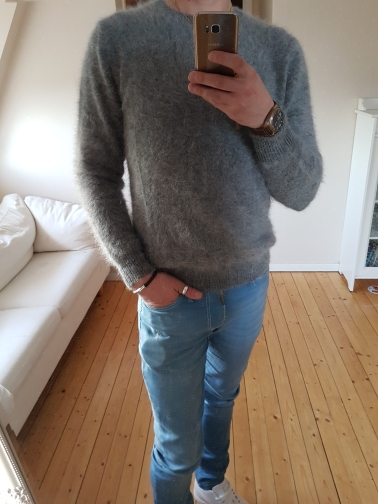 Advanced customization Kim sighed with paragraph longhaired mink sweaters Men hedging necessary influx of men Korean JN104