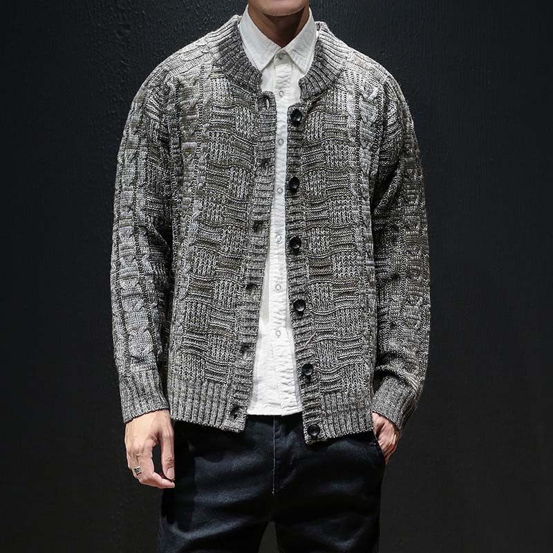 Autumn Winter Fashion Single Breasted Casual Cardigan Sweater Men Knitting Clothes Sweaters Coats Men 4xl 5xl