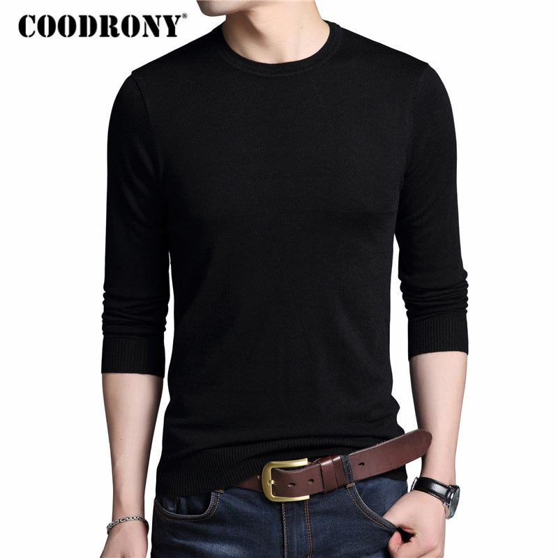 COODRONY Men Sweater Casual O-Neck Pullover Men Clothes 2018 Autumn Winter Soft Warm Cashmere Wool Mens Sweaters Pull Homme 8195