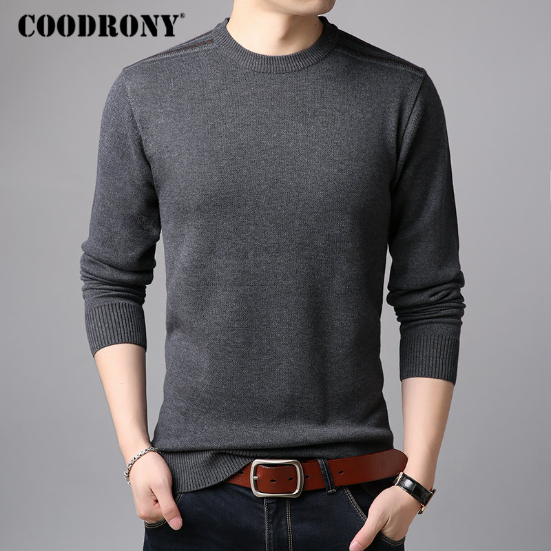 COODRONY Mens Sweaters 2018 Autumn Winter New Arrival Cashmere Wool Pullover Men Casual O-Neck Sweater Men Soft Warm Jumper 8219