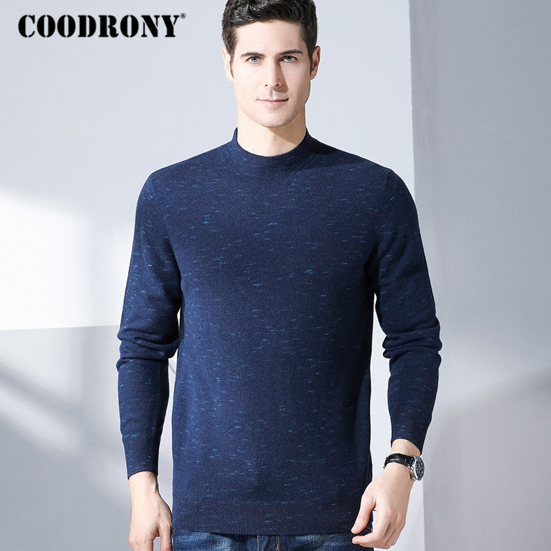 COODRONY Merino Wool Sweater Men Casual Turtleneck Pullover Men Clothes 2018 New Arrival Winter Thick Warm Cashmere Sweaters 316