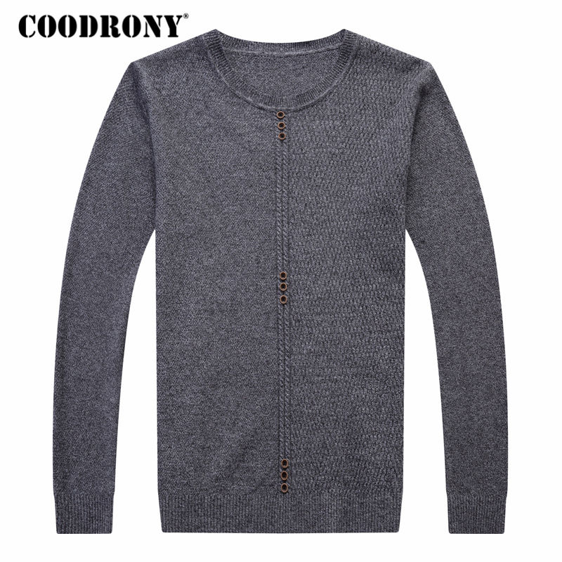 COODRONY Sweater Men Casual O-Neck Pull Homme Soft Warm Cashmere Wool Pullover Men Clothes 2018 Autumn Winter Mens Sweaters 8111