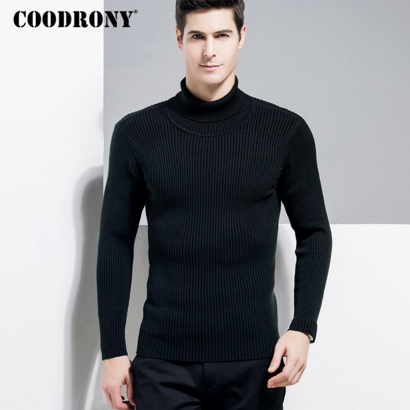 COODRONY Sweater Men Classic Turtleneck Pullover Men 2018 Winter Christmas Thick Warm Cashmere Wool Sweaters Slim Fit Jumper 193