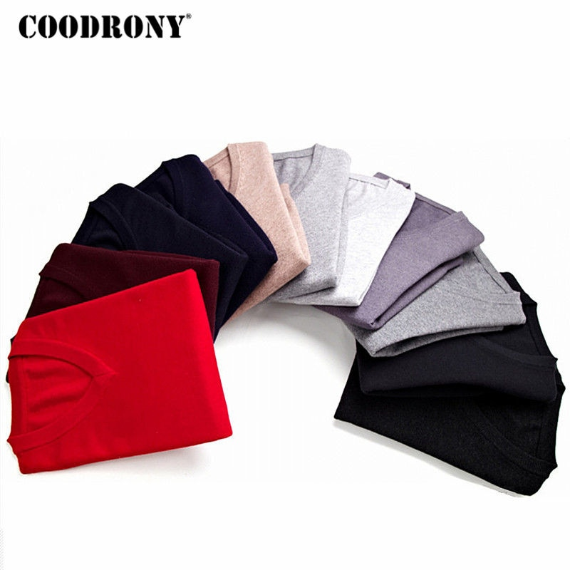 COODRONY Sweater Men Clothes 2018 Autumn Winter Cashmere Wool Pullover Sweaters Plus Size Business Casual V-Neck Pull Homme 8128