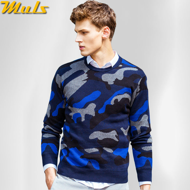 Camouflage sweater men cotton pullover jumper for man Male pullover jersey dress Brand Muls O neck clothing Size S-4XL PST4704