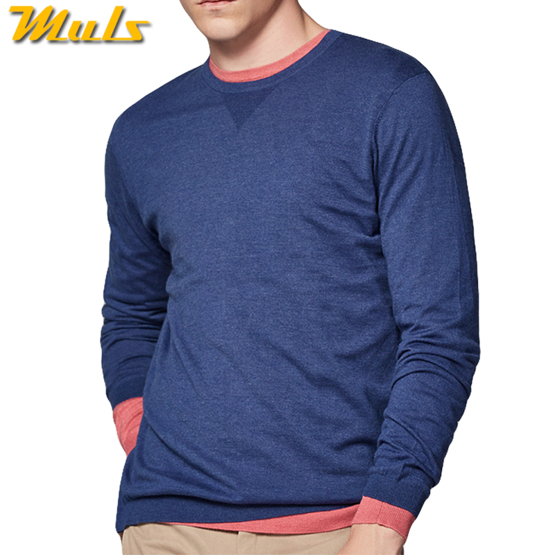 Dropshipping Spring Pullover Men Sweaters Shirt O Neck Colored Wool Male Sweater Pullover Autumn Winter Sueter Hombre Brand Muls