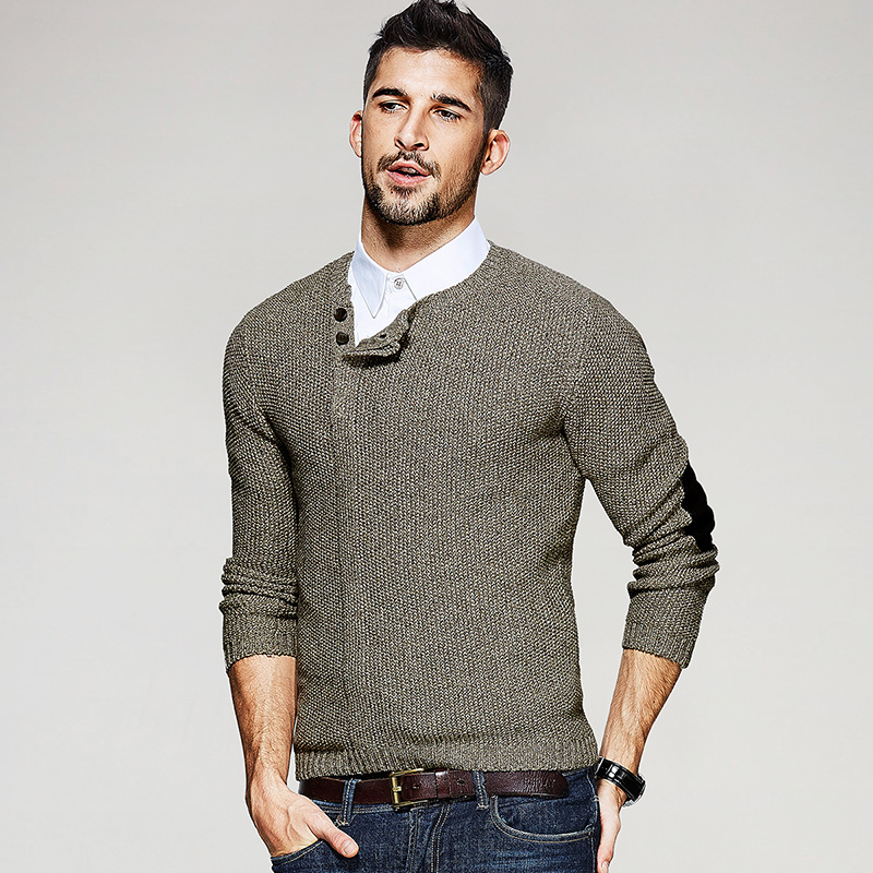 Free shipping men cotton knitwear new winter sweaters 9935