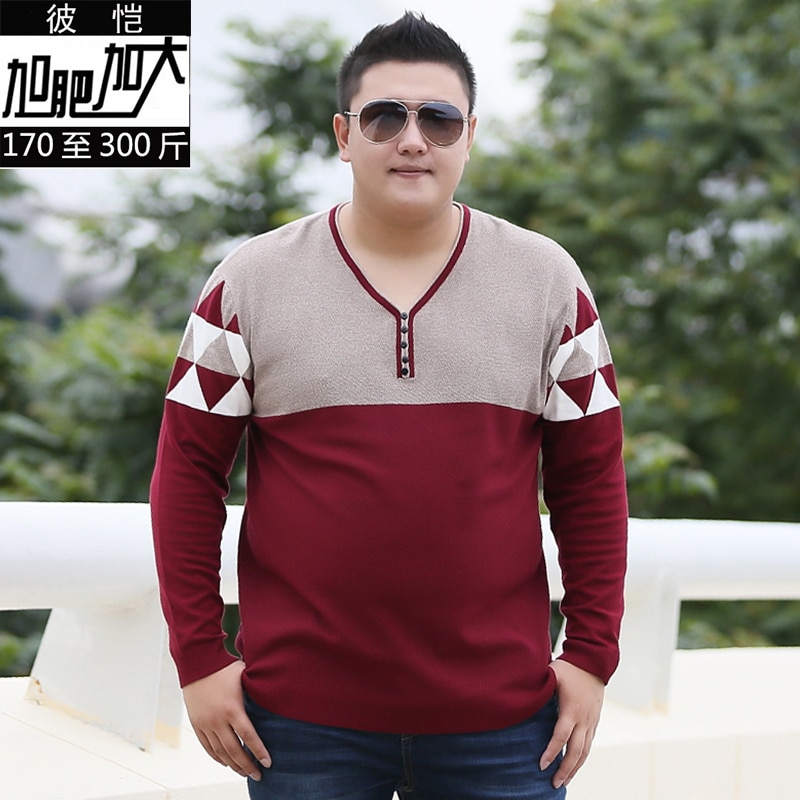 Large size 8XL Cashmere Sweater Men 2018 New Arrival Winter Thick Warm Mens Sweaters v-Neck Wool Pullover Men Knitwear Pullovers