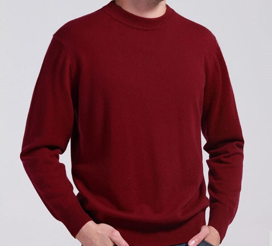 Man's Cashmere Sweaters Winter Autumn O-Neck Long Sleeve Pullovers Soft Warm Knitwear Plus Size S-XXXL A42
