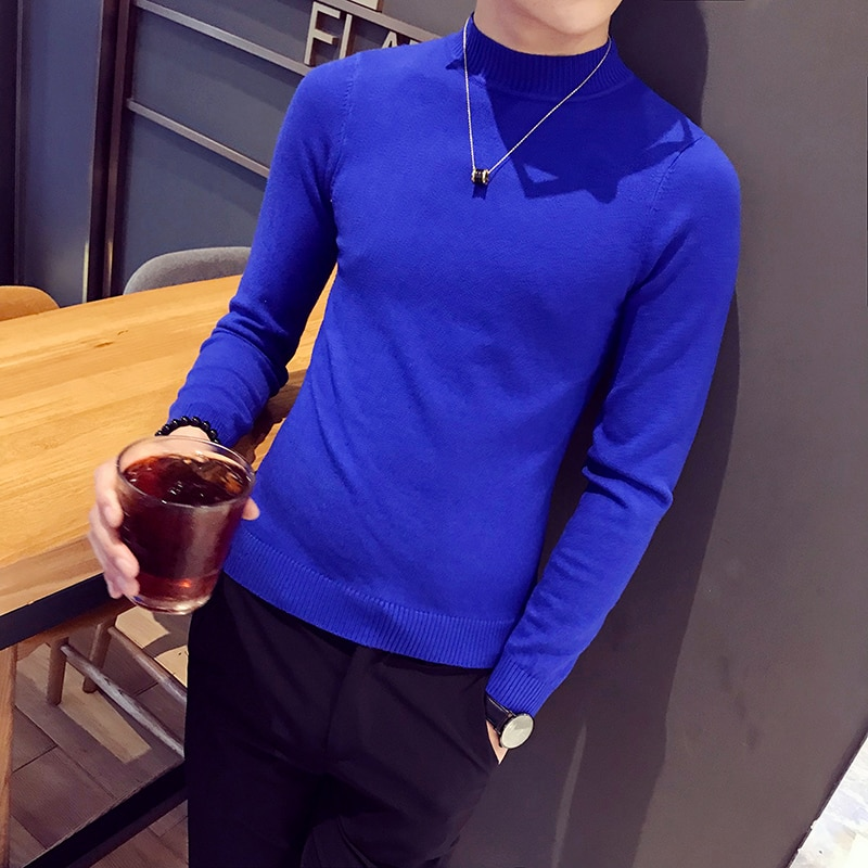 Men 2018 Cashmere Sweater Brand Clothing Mens Sweaters Fashion Casual Shirt Wool Pullover Men Pull Turtle Neck Sweaters