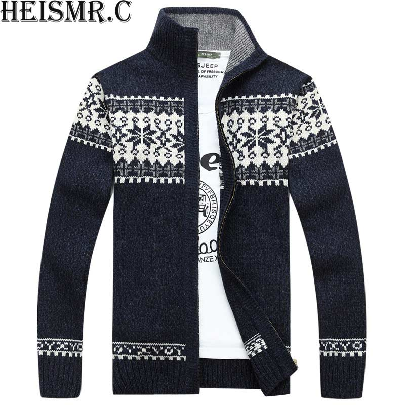 Men'S High Quality Brand Sweatercoat Mens Snow Sweater Men'S Casual Stand Collar Outwear Jacket Knitted Cashmere Cardigan BDK74