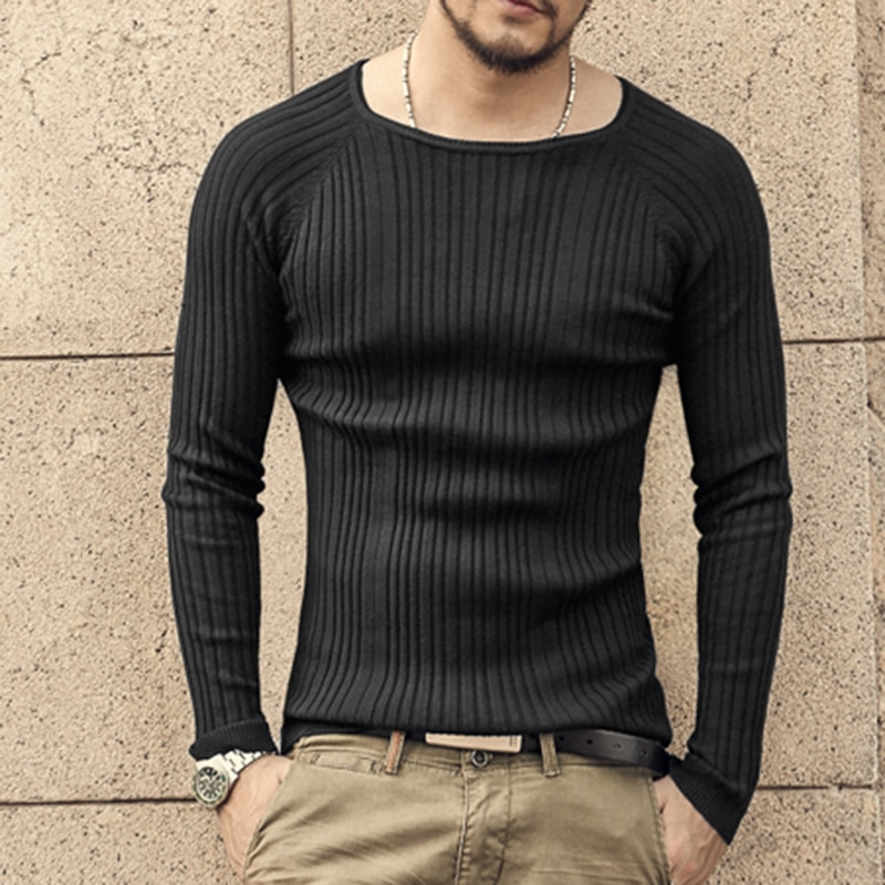 Men christmas knitted sweater o-neck winter warm bottoming pullovers men knitwear brand design solid fashion style sweater 2017