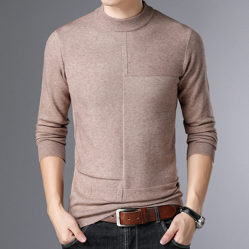 New Style Autumn Winter Men Smart Casual Sweaters men Turtleneck men's render knitted Sweater Tops Tees Men's Japan Retro MQ1809